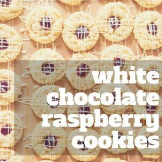 White Chocolate Raspberry Cookies.