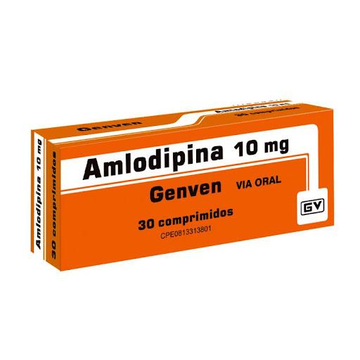 Amlodipina 10Mg 30 Comprimidos Genven