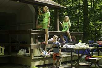 Photo: Let's climb on a lean-to at Lake Carmi State Park by Heather Sefcik