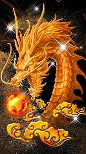 yellow dragon theme yellow wallpaper - náhled