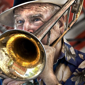 The Jazzman by Irene Orloff - People Musicians & Entertainers ( music, jazz, musician, man )