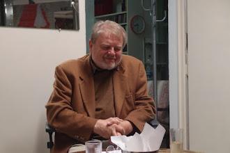 Photo: KÜNSTLERGESPRÄCH JOSEF PROTSCHKA am 6. April 2016. Josef Protschka.  Copyright: Herta Haider