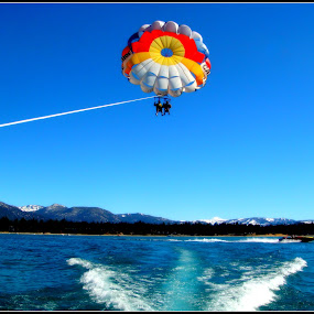Parasailing by Awesome Pics - Novices Only Sports ( adventure, parasailing, sports, , Free, Freedom, Inspire, Inspiring, Inspirational, Emotion )