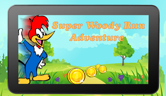 Super Woody Run Adventure woodpecker - náhled