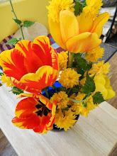 Photo: Gyandevi's bouquets