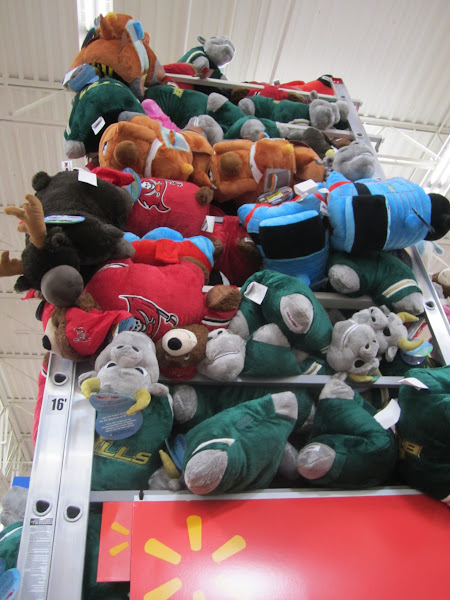 Photo: HA! I can tell I am in Tampa. Pillow Pets for the Bucs and Bulls!