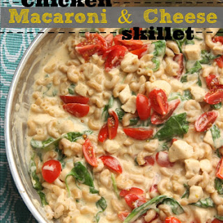 Chicken Macaroni and Cheese skillet
