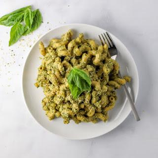 Protein Packed Edamame Pesto Pasta.
