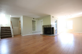 Photo: Large Living area with gas fireplace