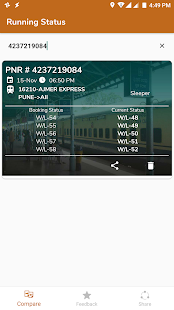 Running Train Status - náhled