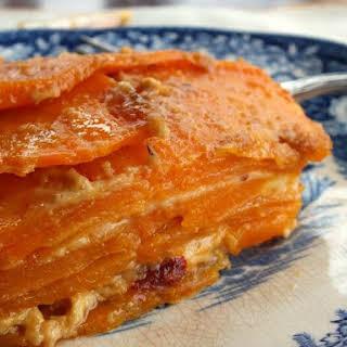 Heirloom Sweet Potato Gratin.