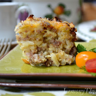 Easy Cheesy Breakfast Casserole.