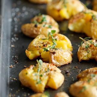 Garlic Smashed Potatoes.