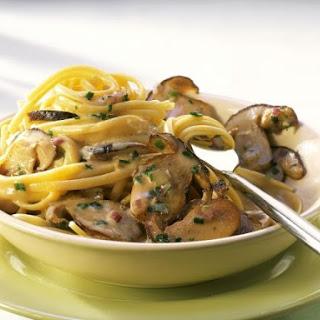 Creamy Mushroom Linguine.