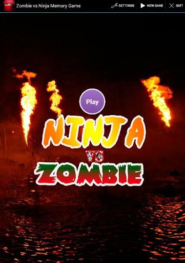 Zombie vs Ninja Memory Game