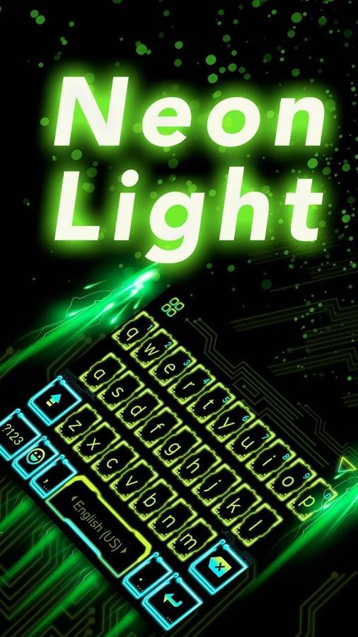 Neon-Light-Emoji-Kika-Keyboard 8