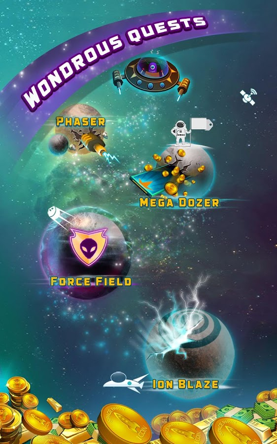 Space Blaze Coin Party Dozer- screenshot