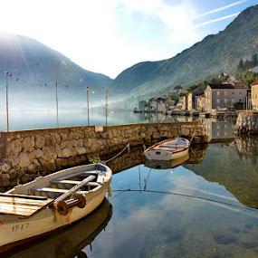 Muo a little fishing village  by Zoran Nikolic - Landscapes Sunsets & Sunrises
