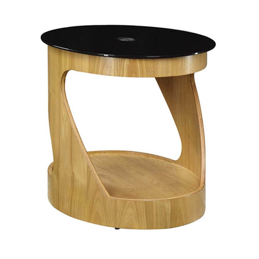Jual Curve Oak JF304 Oval LampTable