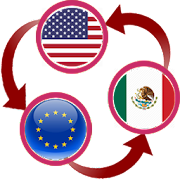 US Dollar To Euro and Mexican Peso Converter App