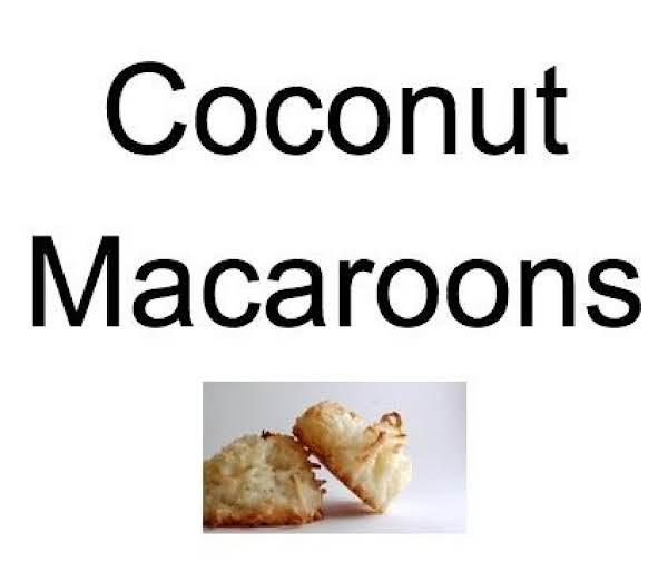 Coconut Macaroons (passover) Recipe