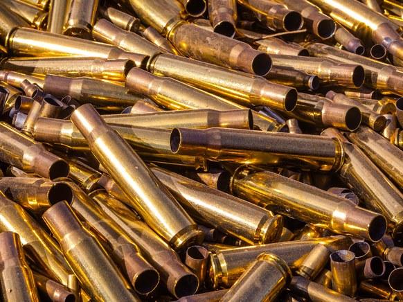 empty rifle casings