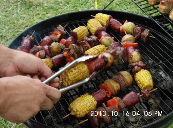 Steak & Sausage Kabobs Recipe
