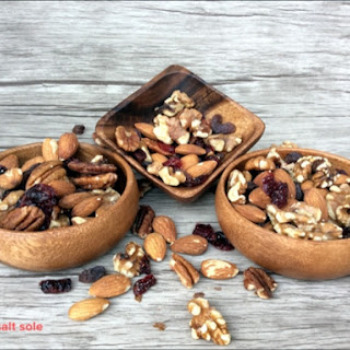 Homemade Roasted Mixed Nuts With Raisins And Cranberries