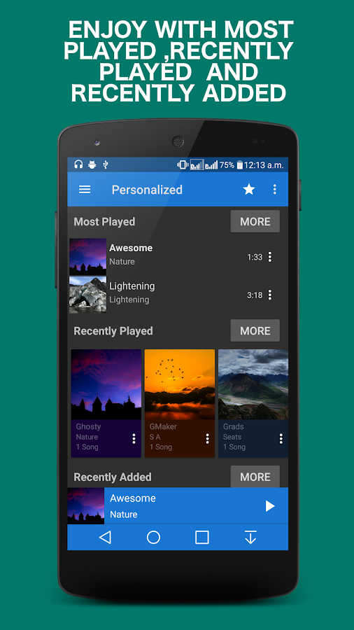 blogger.com: mp3 player with apps