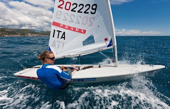 Photo: Italy's Olympic sailing team uniforms were designed by Prada. In addition to supplying technical clothing for the athletes and their coaches, Prada's logo is also on the hulls and sails of Italy's competing boats. What do you think about this look?