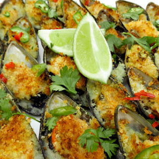 Baked Mussels.