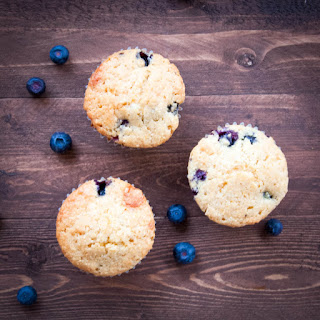 Honey Blueberry Cornbread Muffins