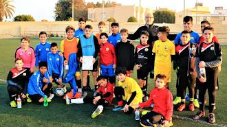 Equipo alevín de la Escuela de Fútbol EDA.