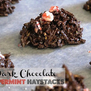 Dark Chocolate Peppermint Haystacks