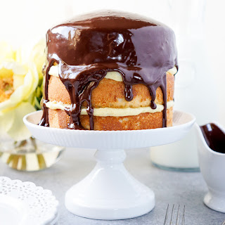 Triple Layer Boston Cream Pie