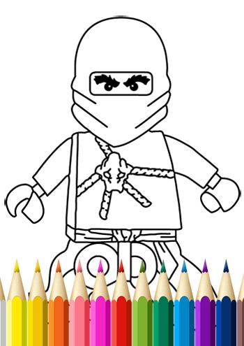 Kids Coloring Book Ninja