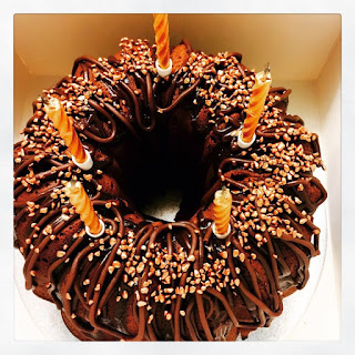 Chocolate & Mango Bundt Cake