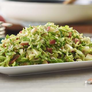 Warm Brussels Sprout & Bulgur Salad
