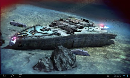Titanic 3D Pro live wallpaper Screenshot