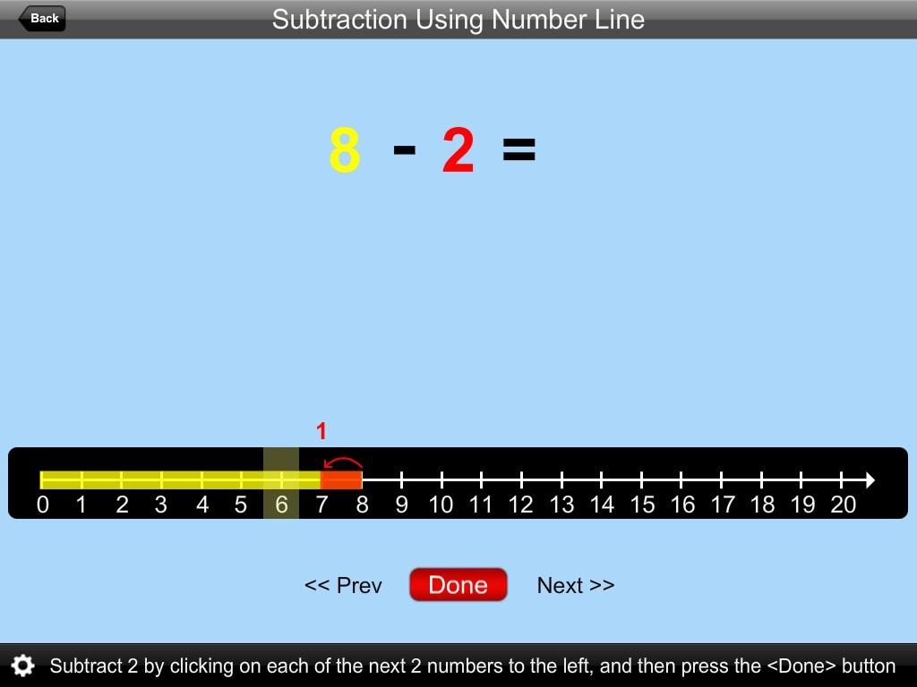 Subtraction Using NumLine Lite- screenshot