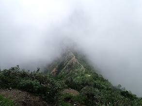 稜線沿いに登山道が続く