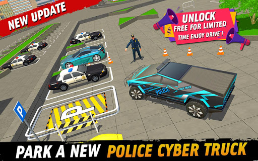 Police Car Parking: Police Jeep Driving Games screenshots 1