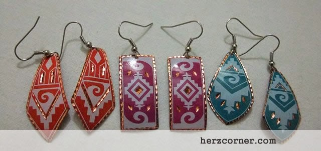 Colorful Souvenir Earrings in Turkey