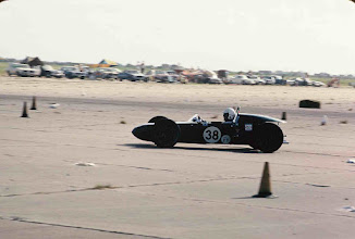 """Photo: July 4, 1969; photo by Ron Nash; Weldon Nash """"at speed"""" at SCCA Galveston Race; This was the Maiden Voyage for the Nash Scrambler FV."""