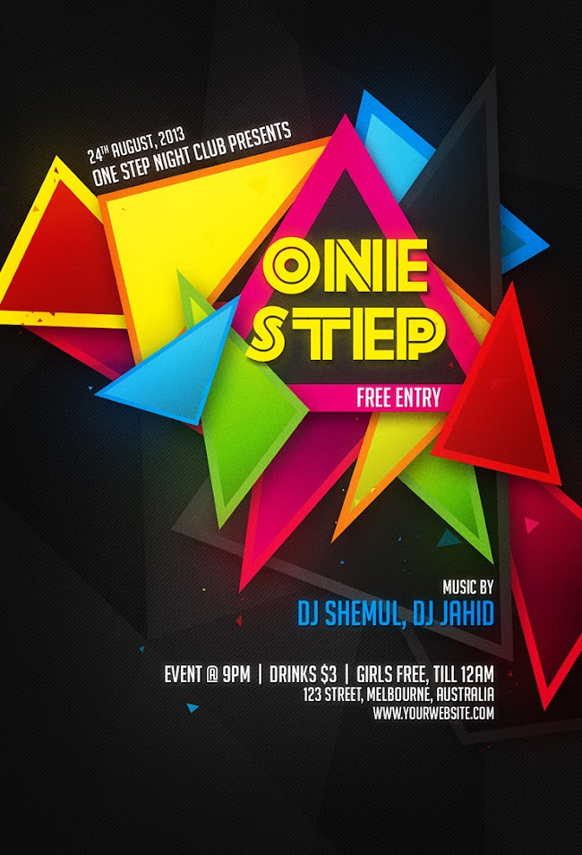 One Step Night Flyer