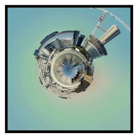 Small world by Patrick Langley - Digital Art Abstract ( fun )