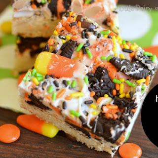 Halloween Sugar Cookie Bars.