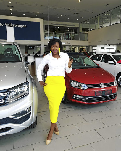 Car saleslady Zaza Letsholo fell in love with cars at an early age. Today she's one of the top performers in the VWSA group.