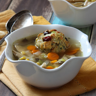 Slow Cooker Turkey and Stuffing Dumpling Soup