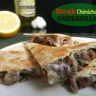 Steak Chimichurri Quesadillas